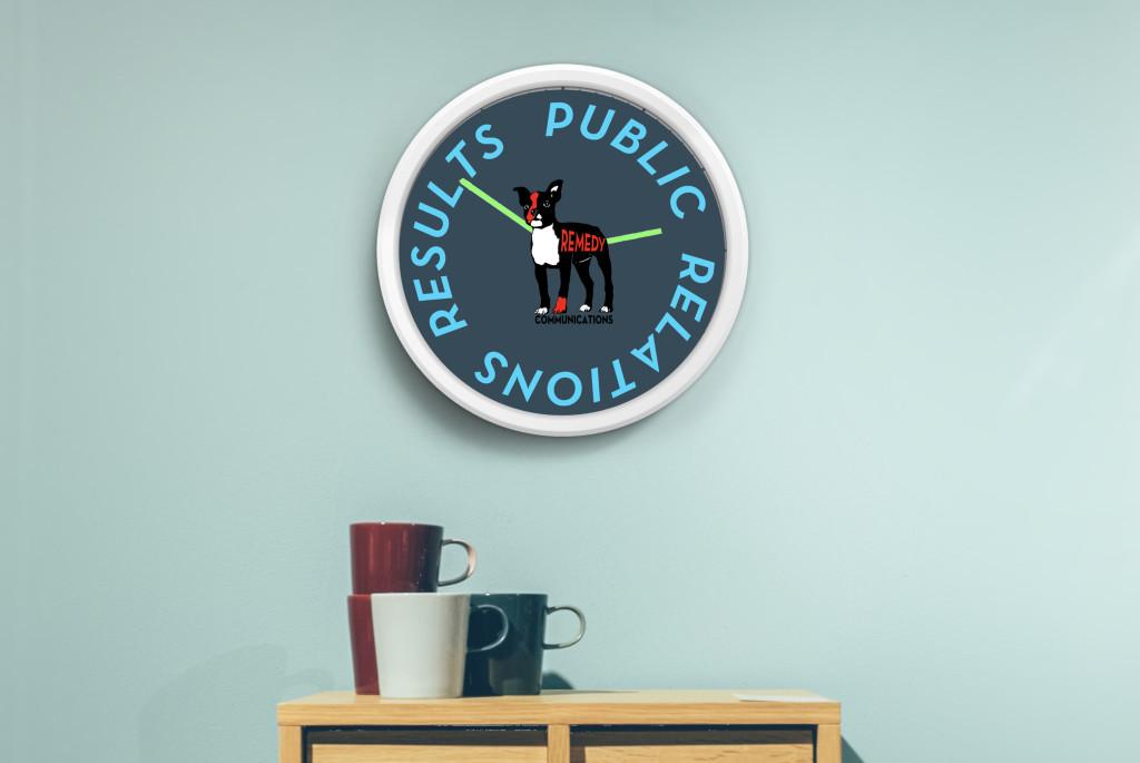 Remedy PR San Diego Clock Greyh Backround Publiuc Relations Best